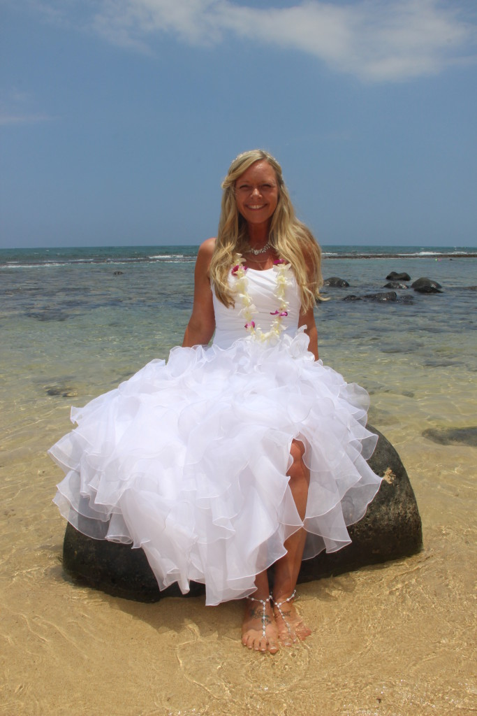 "Barefoot Maui Wedding"" Wedding photography ""Trash the Dress"" at Makena Cove Secret Beach"