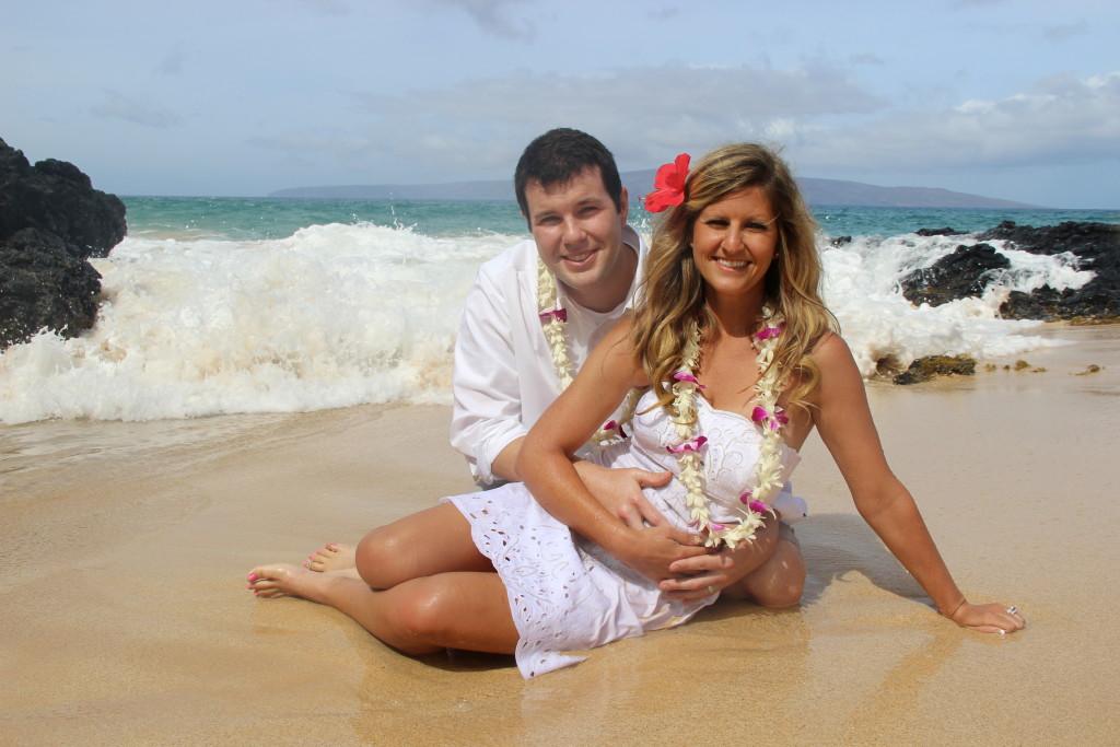 Barefoot Maui Wedding Trash the Dress photos at Makena Cove Secret Beach