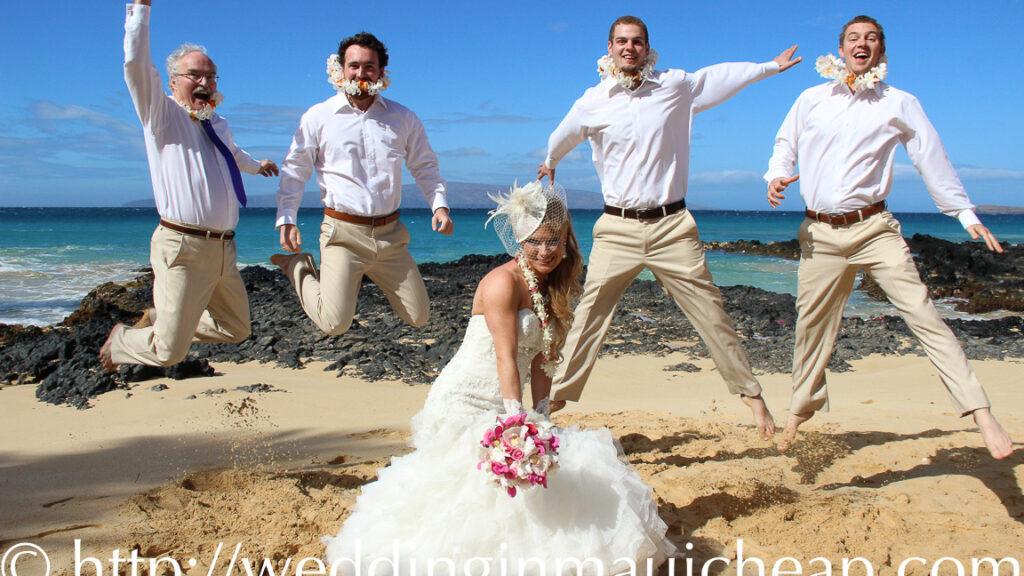 Affordable Barefoot Maui Wedding beach wedding ceremony photo