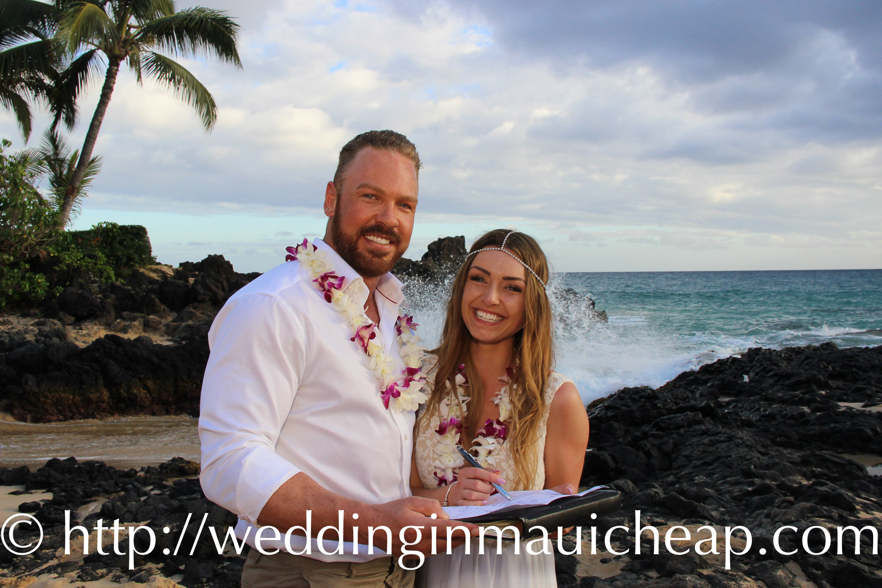 Simple Wedding Dresses For Justice Of The Peace: Cheap Maui Wedding Pckg Simple Maui Elope Wedding Planner