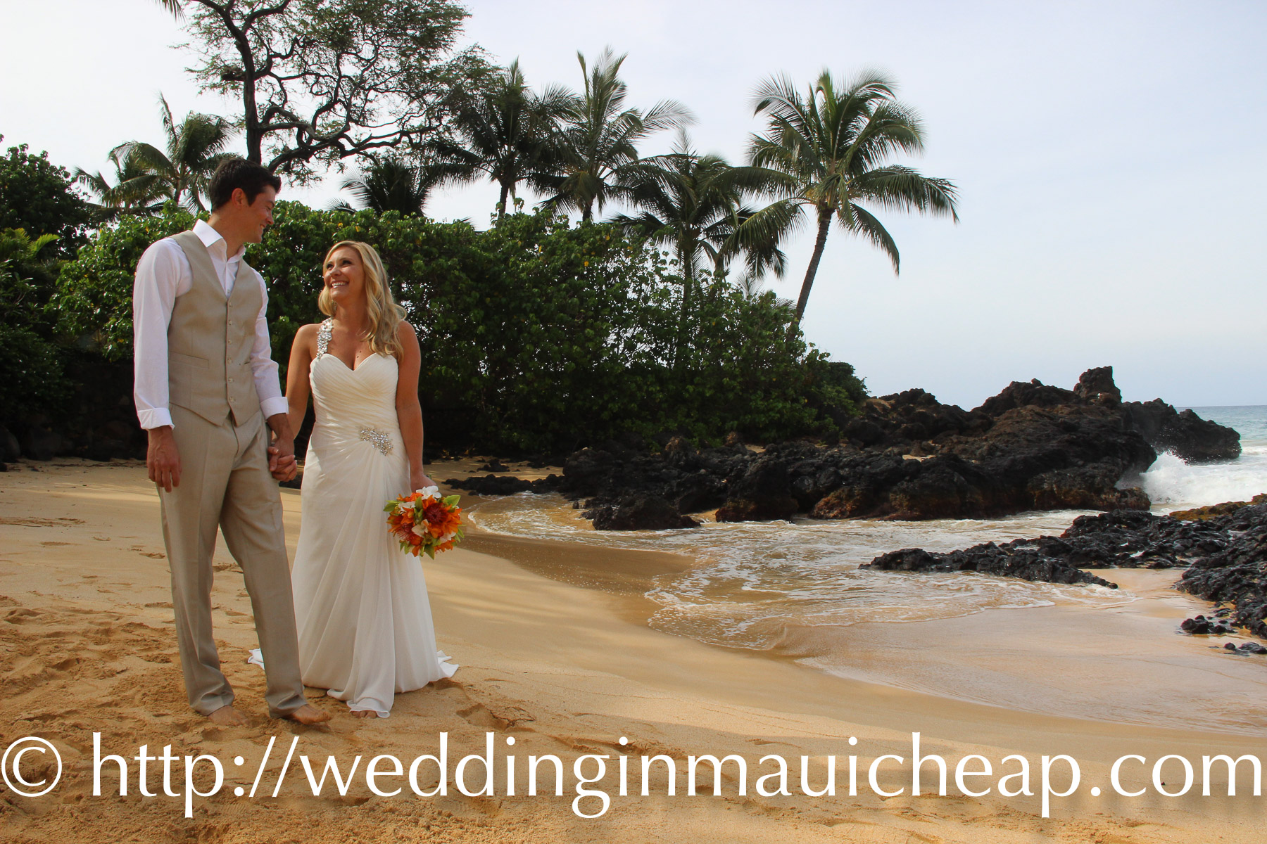 Our Hawaiian beach ceremony includes beautiful cheap Maui wedding packages. Brides tell us our simple Maui wedding packages are the best Maui wedding or Maui renewal value in Hawaii! Our goal is to create a simple, joy filled Hawaiian themed Wedding or Vow Renewal ceremony that will far exceed your expectations. And because we are family owned and operated, we can offer you an affordable, cheap, Maui weddings and renewals!